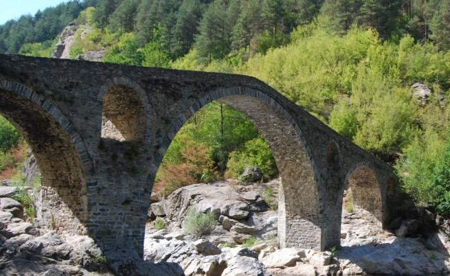Дяволският мост на река Арда в Родопите