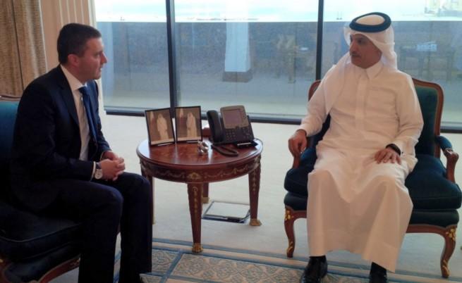 Финансовият министър Владислав Горанов и катарският му колега Али Шериф ал Емади