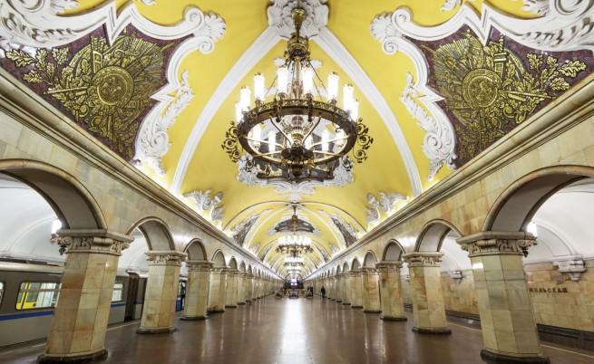 """Метростанция """"Комсомолская"""" в Москва"""