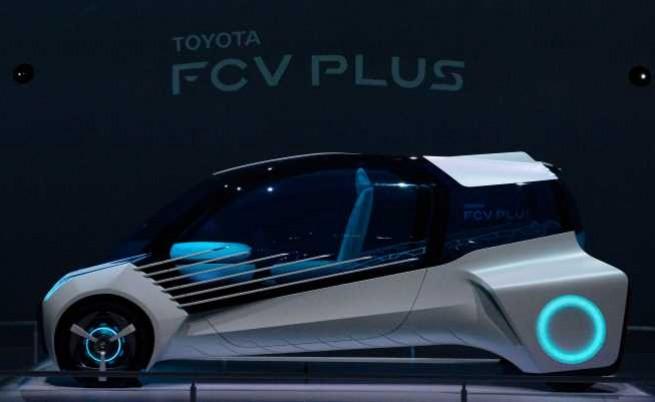 Toyota FCV Plus Concept е един от автомобилите на бъдещето, който ще бъде представен на изложението в Токио. Снимка: Getty images
