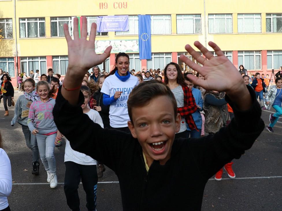 - Ивет Лалова в символичен спринт срещу диабета с участието на децата от 119 СОУ в София