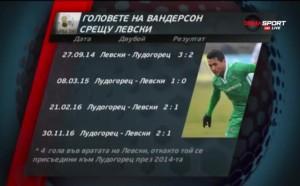Головете на Вандерсон срещу Левски