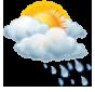 Предимно облачно, кратък дъжд