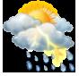 Облачно, дъжд с гръмотевици