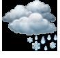 Облачно, слаб мокър сняг