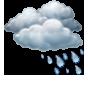 Облачно, кратък дъжд