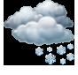 Облачно, кратък снеговалеж