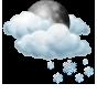 Предимно облачно със слаб сняг