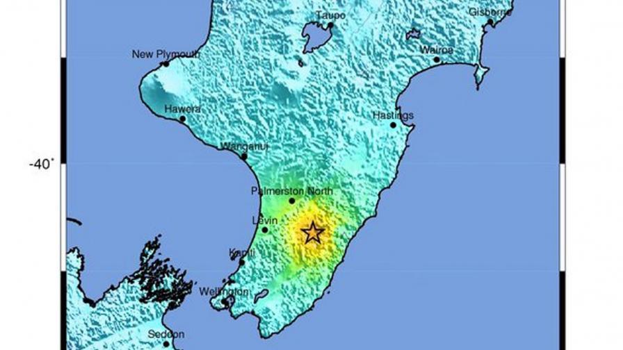 Земетресение с магнитуд 6,3 разтърси Нова Зеландия