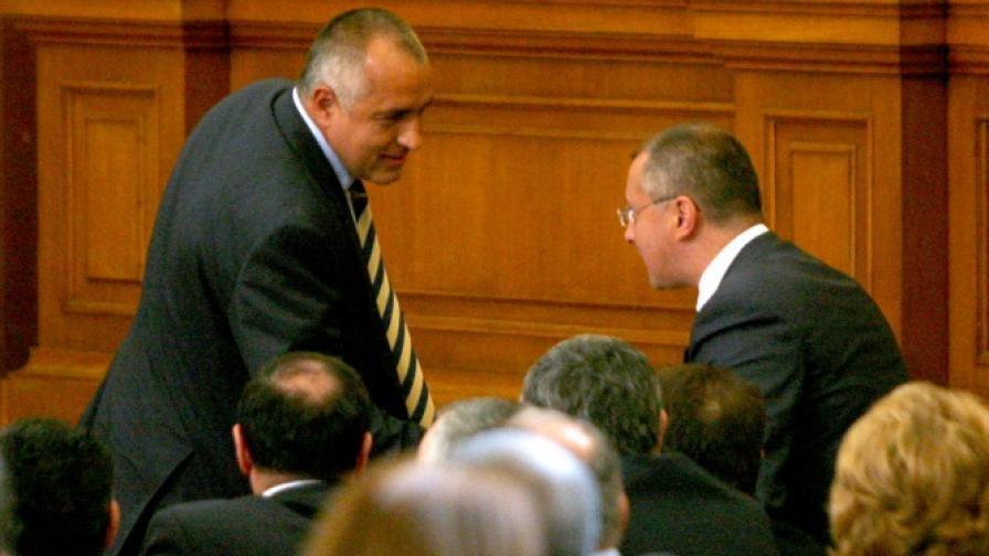 Бойко Борисов и Сергей Станишев в Народното събрание