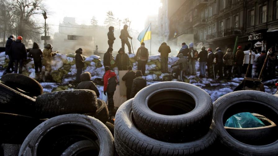 Барикада в центъра на Киев