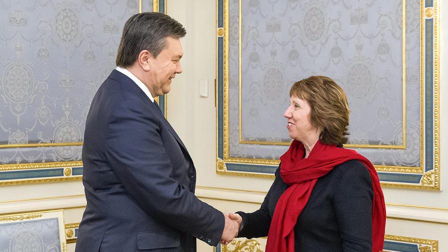Янукович и Аштън