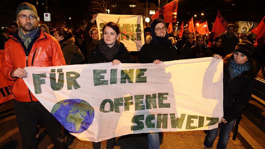 Резултатите от референдума изкараха на улицата протестиращи