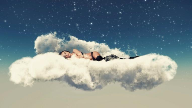 жена облак сън мечта