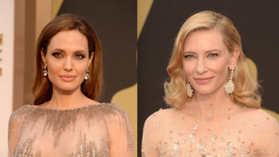 "Анджелина Джоли и Кейт Бланшет на наградите ""Оскар"""