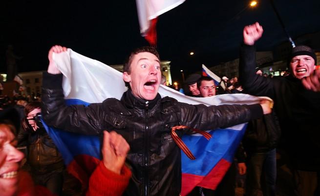95,5% от гласувалите в Крим избраха Русия