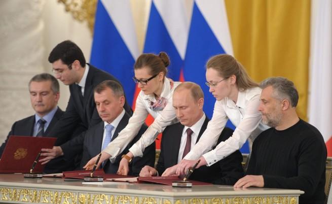 Крим се смята за приет в Руската федерация от днес