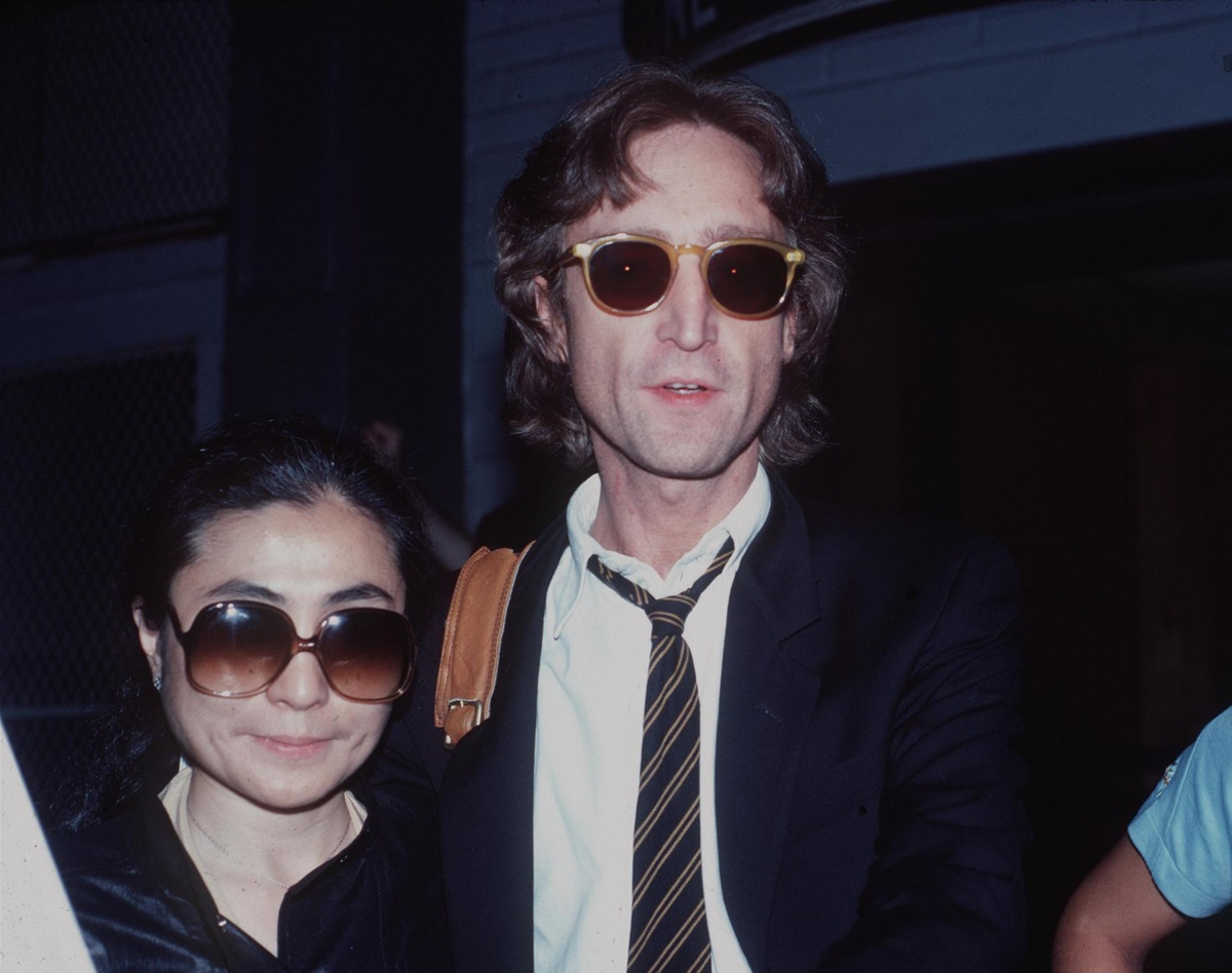 <p>Йоко Оно и Джон Ленън в Ню Йорк през 1980 г.</p>