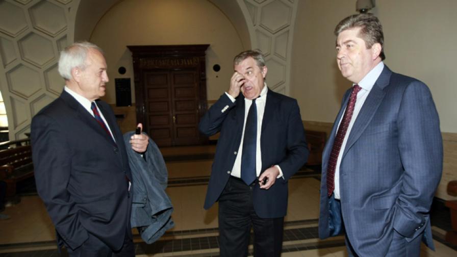 Бриго Аспарухов, Румен Петков и Георги Първанов във Военния съд