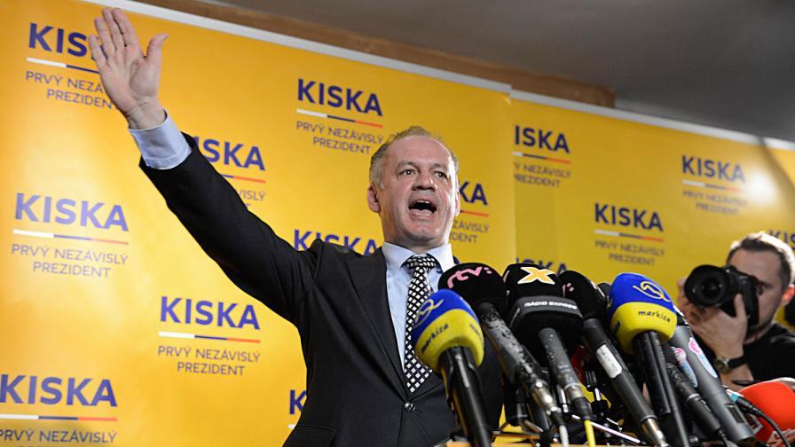 Бизнесменът Андрей Киска е новият президент на Словакия