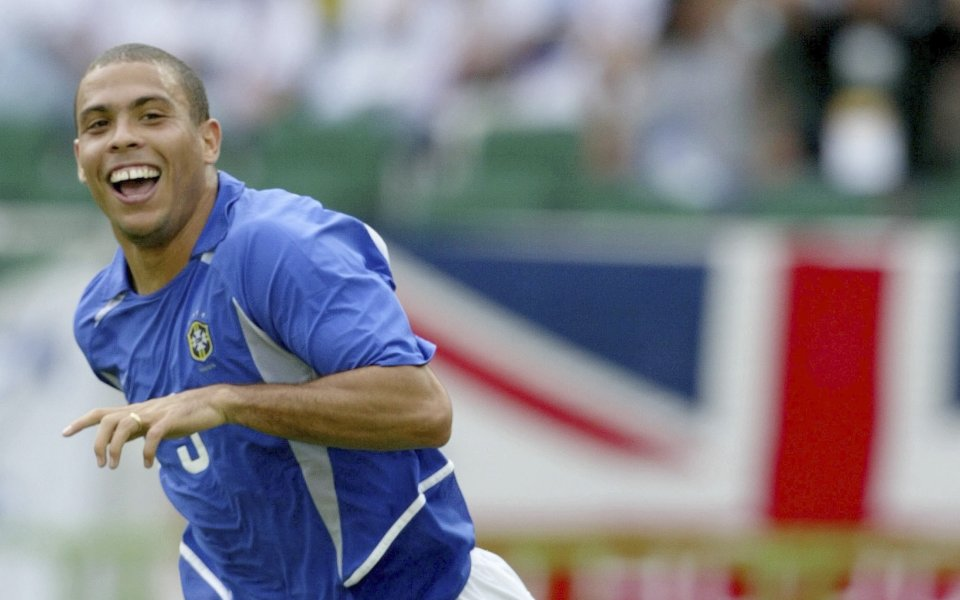 Двукратният носител на Златната топкаот 1997 и 2002 година Роналдо