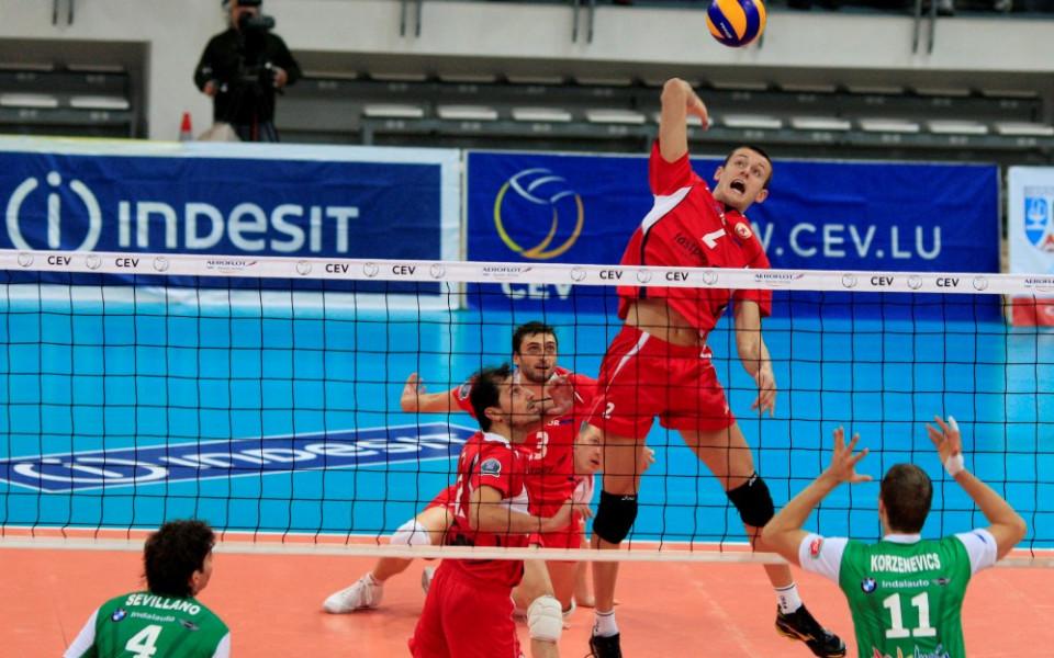 Шампионска лига по волейбол: ЦСКА - Уникаха 3:2 гейма
