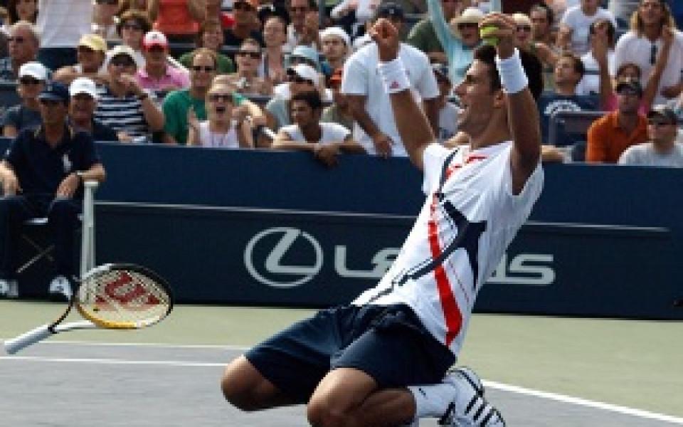 Джокович продължи на US Open след 63 гейма срещу Степанек