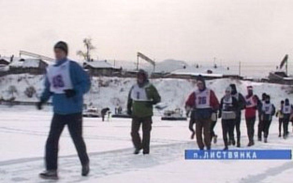 Леден маратон край езерото Байкал