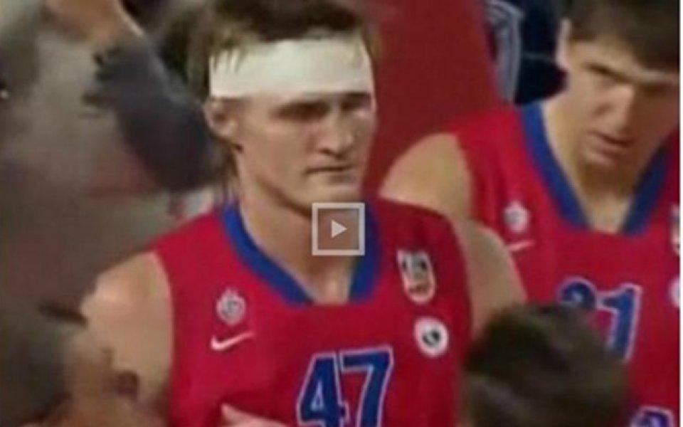 ВИДЕО: Разбиха главата на Кириленко
