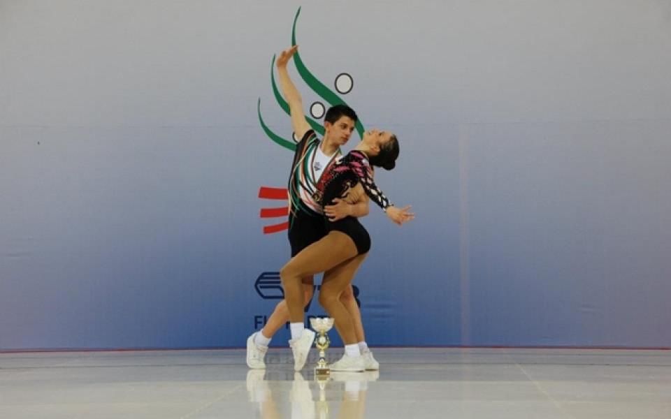 България с 4 медала на СК по аеробика в Пловдив, Стоилова и Папазов със СК за 2018-а