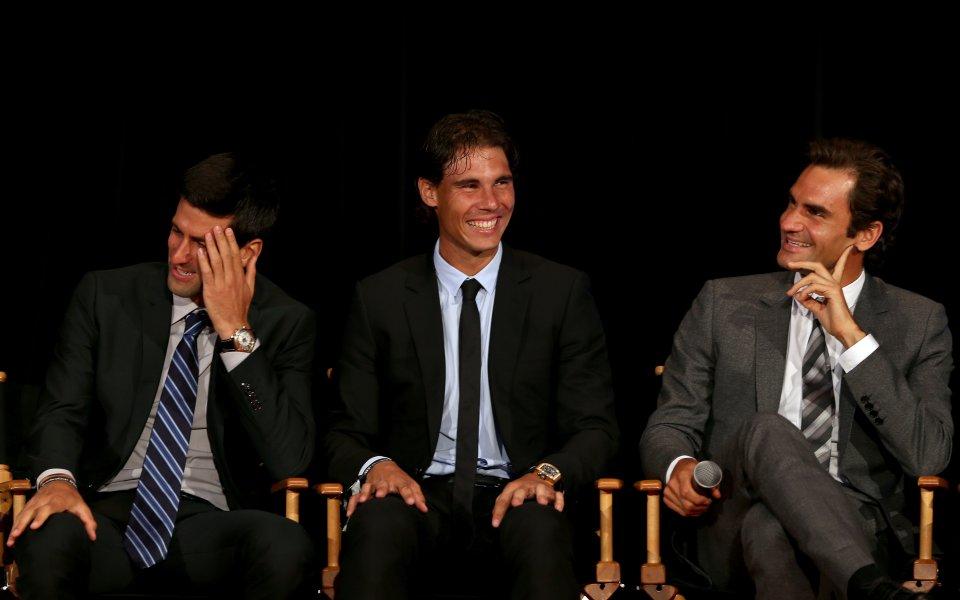 Джокович, Надал, Федерер - състезанието за най-велик в тениса
