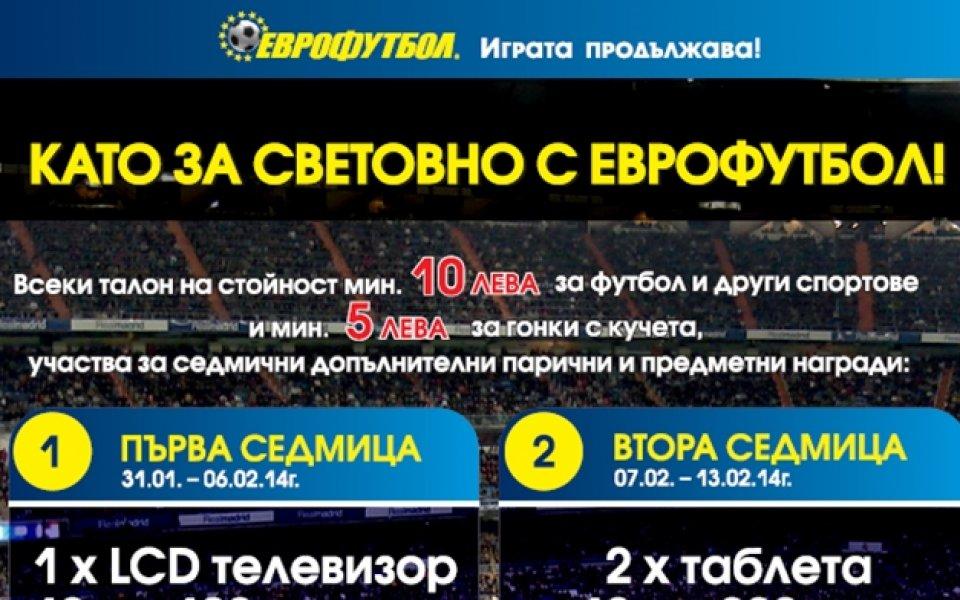 """15 щастливи печеливши и от втората седмица на """"Като за световно с Еврофутбол!"""""""