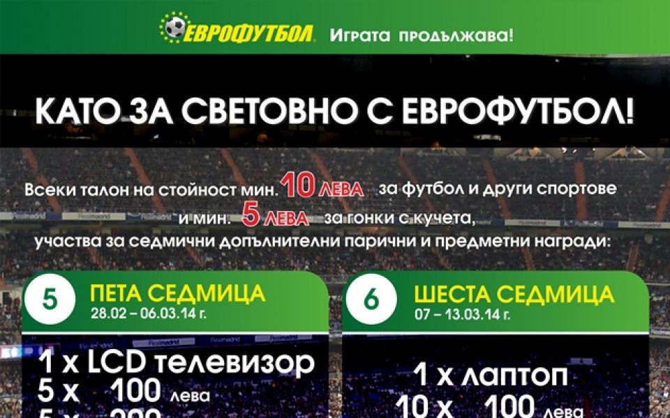 """Нови 15 участника получиха допълнителни награди от """"Като за световно с Еврофутбол!"""""""