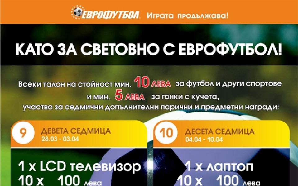 Еврофутбол удължава кампанията си