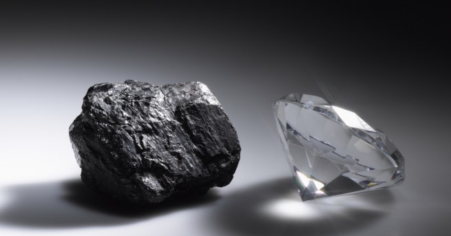 Свят В Русия откриха уникален диамант с друг диамант Вътрешният