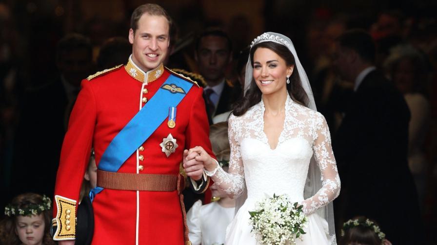 Принц Уилям и Кейт Мидълтън на сватбата си