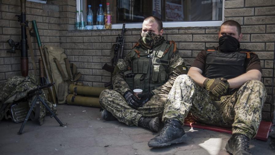 Проруски бойци в Славянск