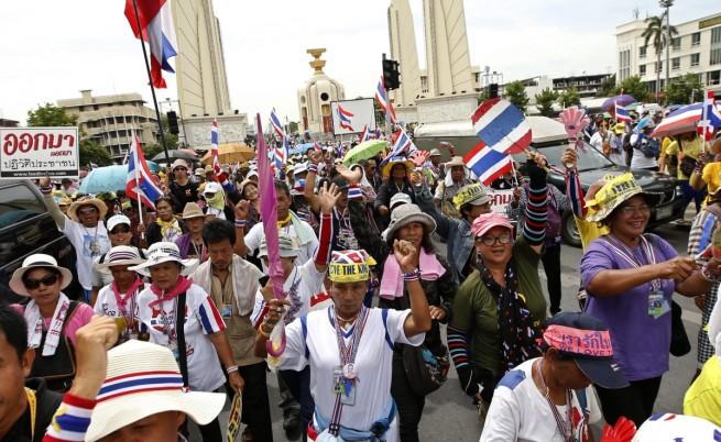 Антиправителствена демонстрация в Тайланд