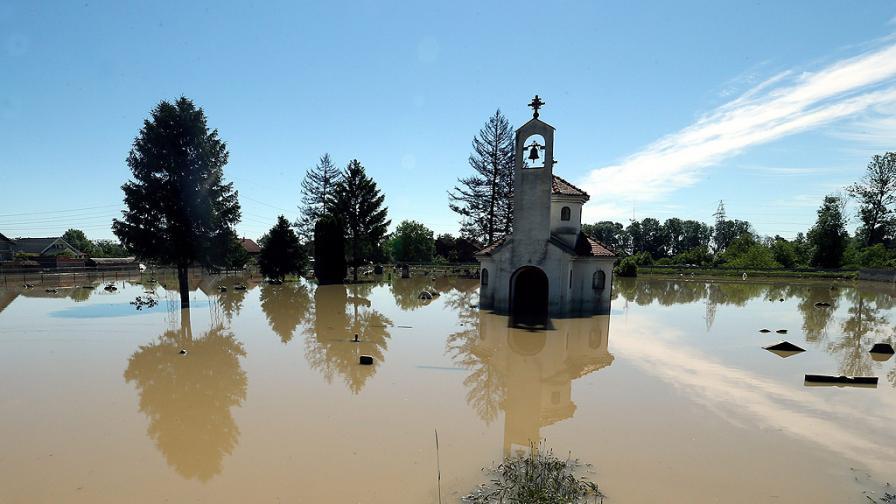 Бедствено положение в 20 общини в Сърбия, жертва