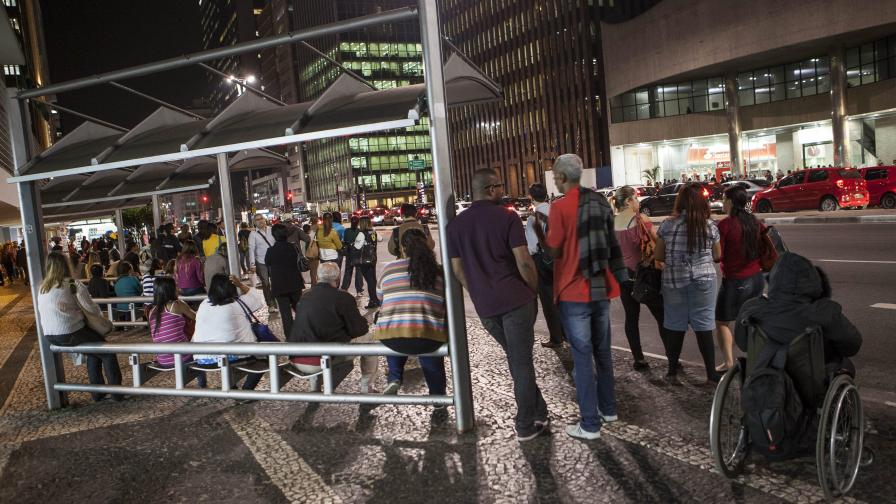 Стачка предизвика истински хаос в Сао Пауло