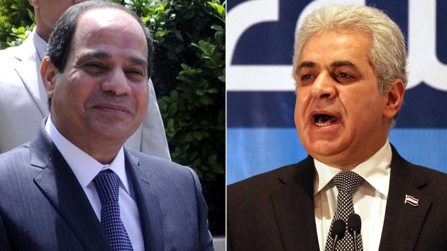 Абдел Фатах ас Сиси и Хамдин Сабахи