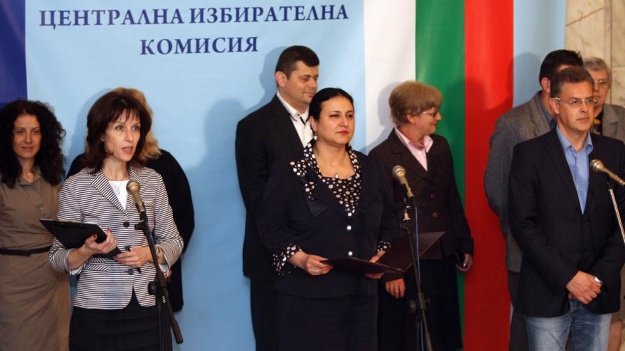 Станишев е в списъка на ЦИК с евродепутати, Пеевски - не