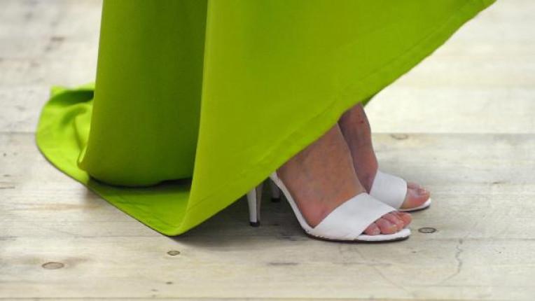 Модел от модното шоу на Michael Sonntag