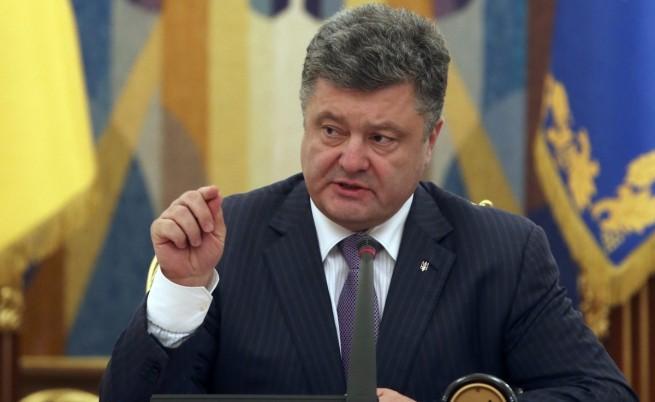 Порошенко: Спираме едностранно огъня в Източна Украйна