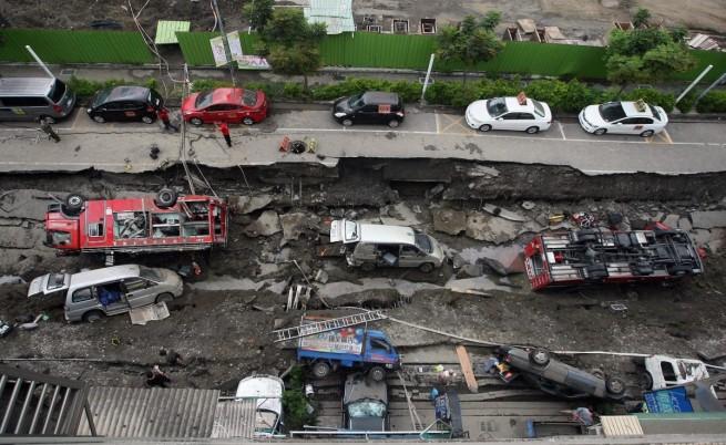 Експлозията на газопровод в Тайван уби над 20 души