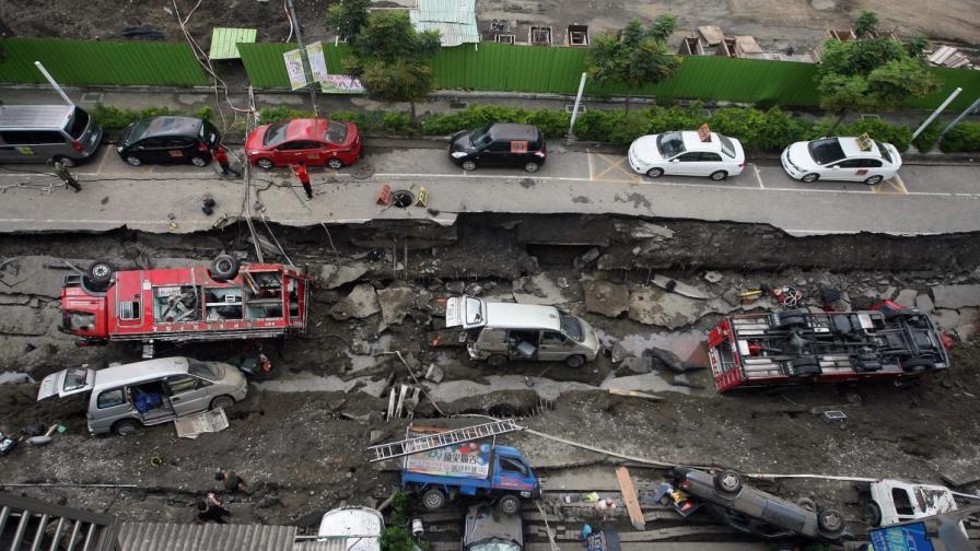 Експлозия на газопровод в Тайван