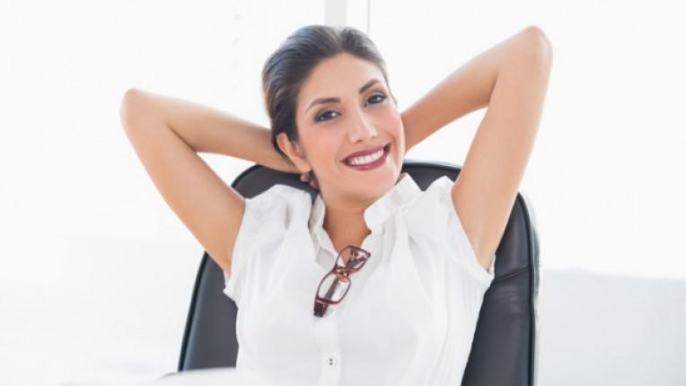 офис жена усмивка щастие