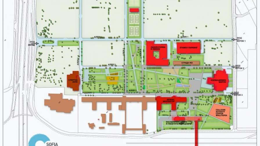 План на бъдещия научно-технологичен парк