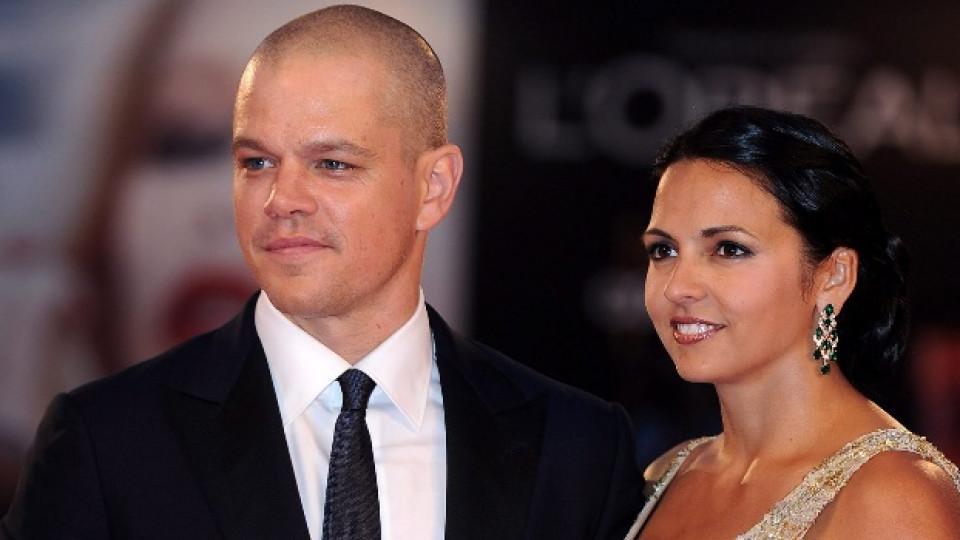 Мат и съпругата му Лусиана на тазгодишния кинофестивал във Венеция