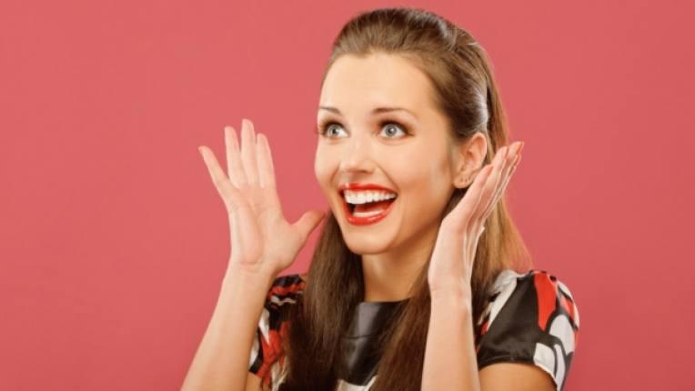 жена щастие удивение изненада